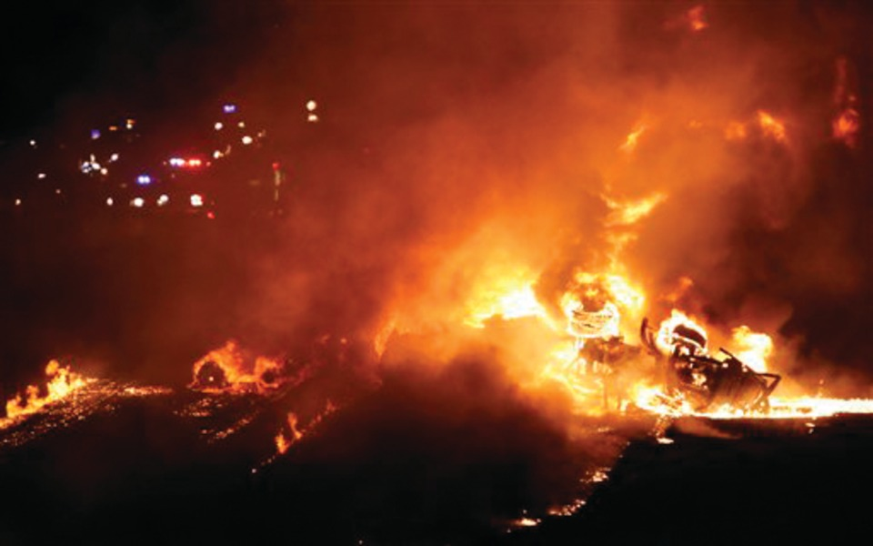 Fuel Tanker Burns After Dallas Crash