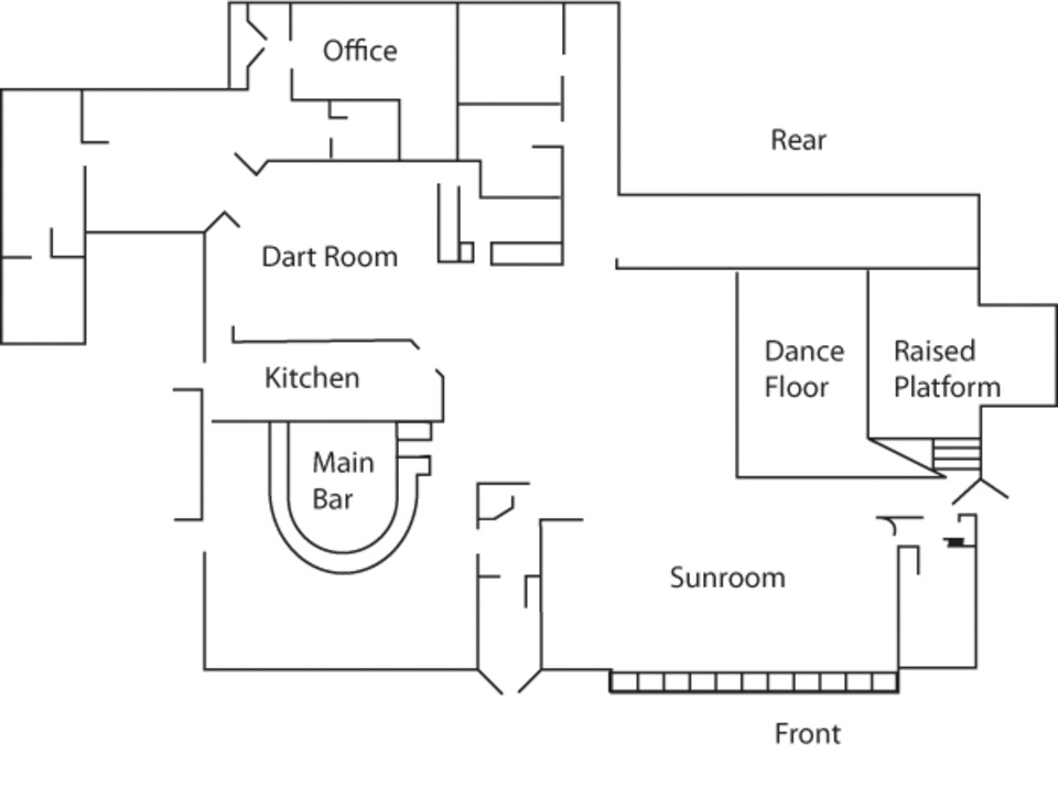 Nightclub Floor Plan | The Station Nightclub Fire