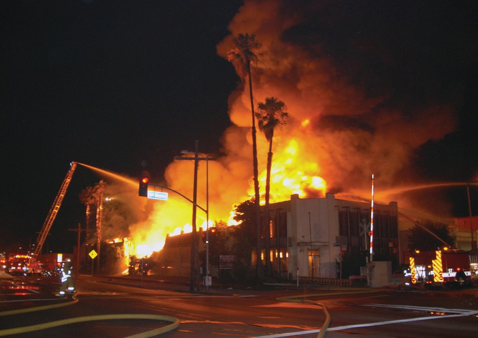 on the job california  explosions injure los angeles