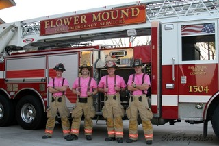 Flower Mound Fire Breast Cancer Awareness