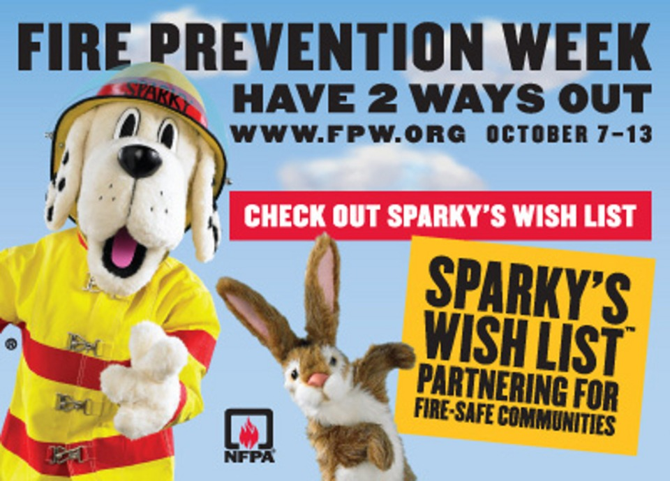 NFPA Fire Prevention Week 2012 To Run Oct 7 13