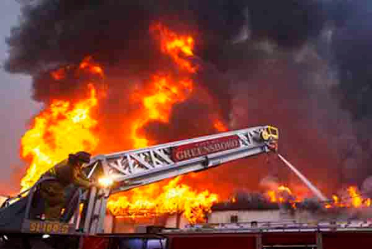 Huge Fire Damages N.C. Furniture Warehouse