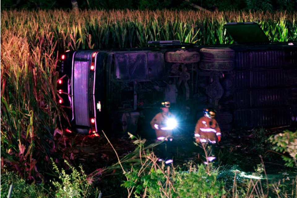 Liberty Township Fire Chief Discusses Greyhound Accident Response