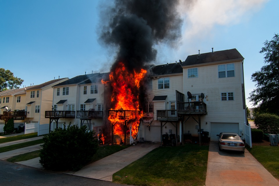 Firefighters Battle Stubborn Fire At Cornelius N C Townhome