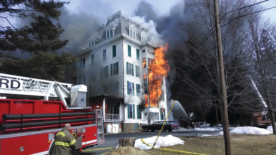 Six Alarm Fire Destroys Historic Stamford Hotel
