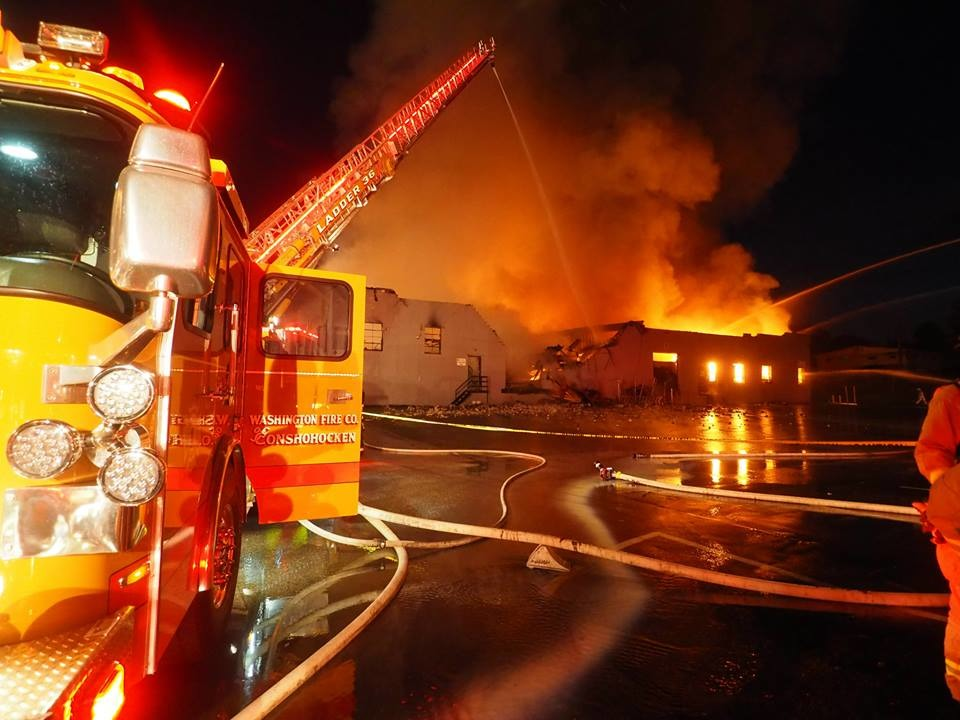 Fire Scene Photos Defensive Attack At Pa Flooring Business