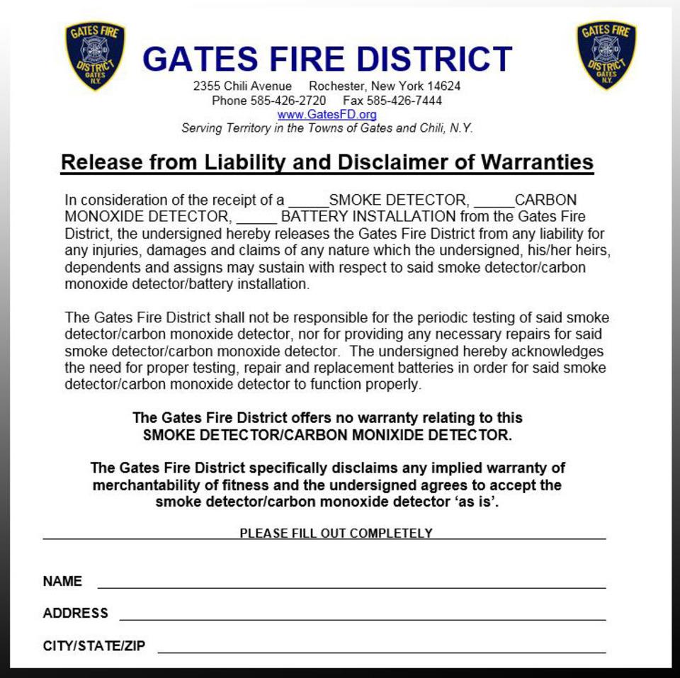 fire prevention smoke and carbon monoxide alarm liability