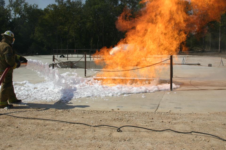 Firefighter Training - Ethanol Fuel and Firefighting Foam