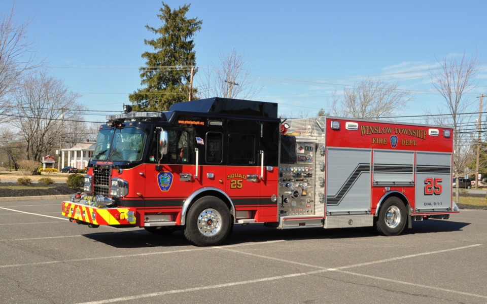 Winslow township n j fire department puts rescue engine for Nj motor vehicle point reduction course