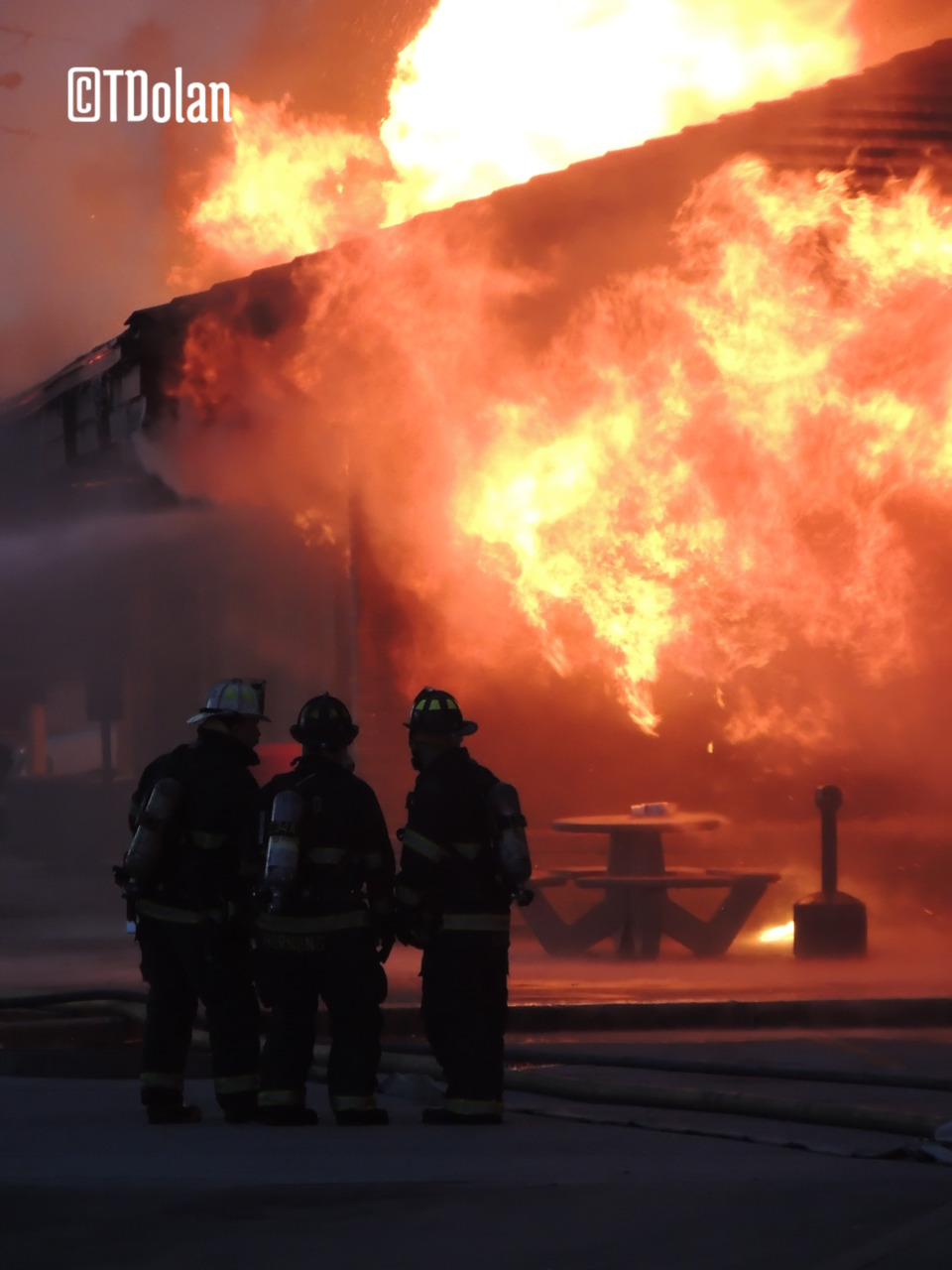 Fire Scene Photos Fire At Indianapolis Flying J Truck Stop