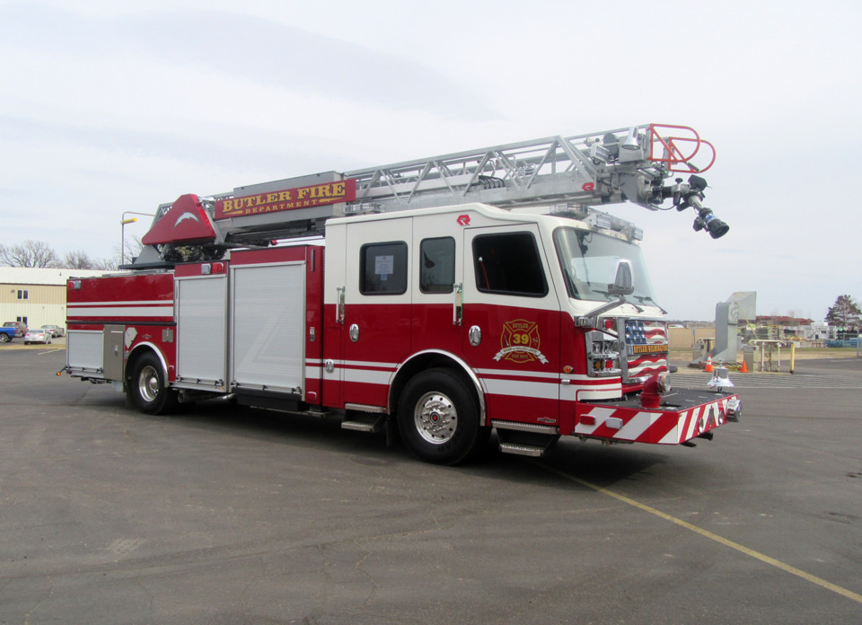 Custom Aerial, Built by Rosenbauer Sold to Butler, Ind