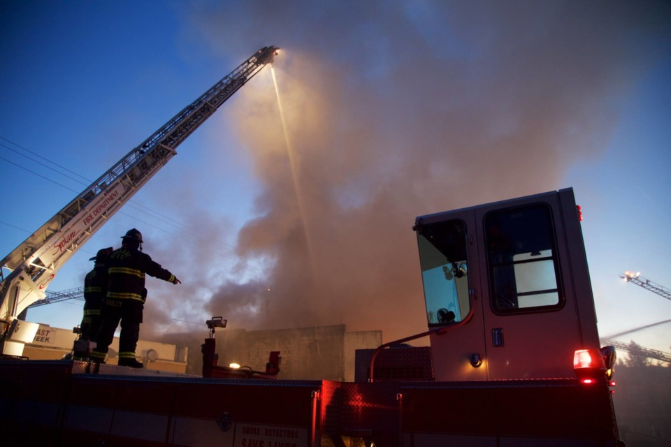 Fire Scene Photos Spokane Crews Use Defensive Attack On