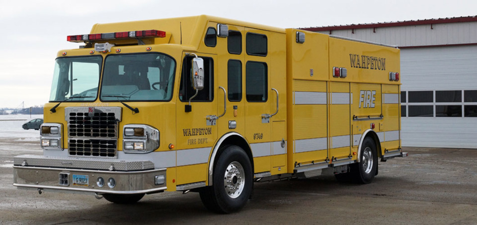 Wahpeton, ND, Fire Department Takes Delivery of a Custom