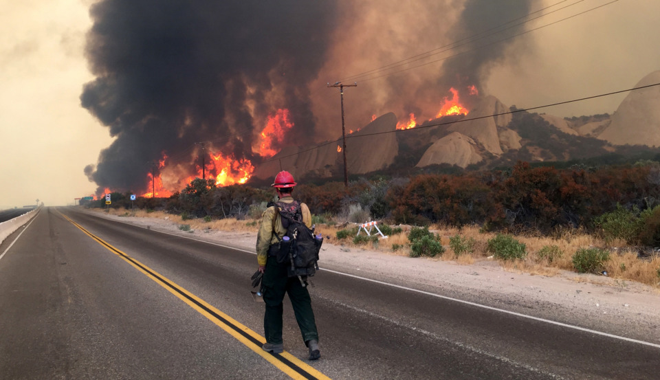 Injured Firefighters Return to Battle CA Wildfire