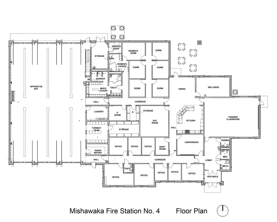 In Quarters Mishawaka IN Fire Station No 4 Fire Station – Fire Station Floor Plans