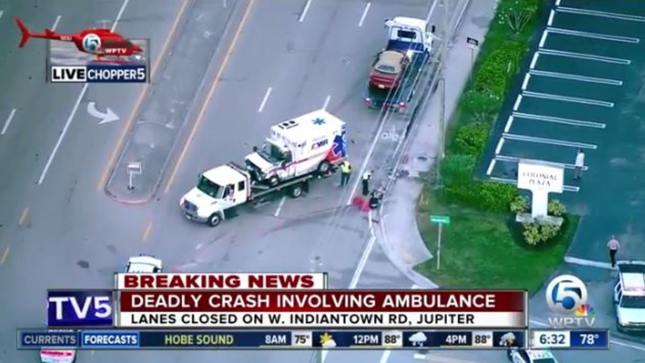 Jupiter, FL, Ambulance Rollover Leaves Two AMR Workers Dead