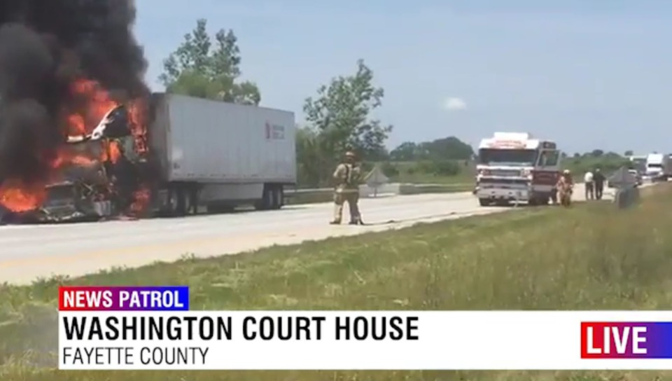 Fayette County OH Firefighters Respond to Semi-Trailer Blaze