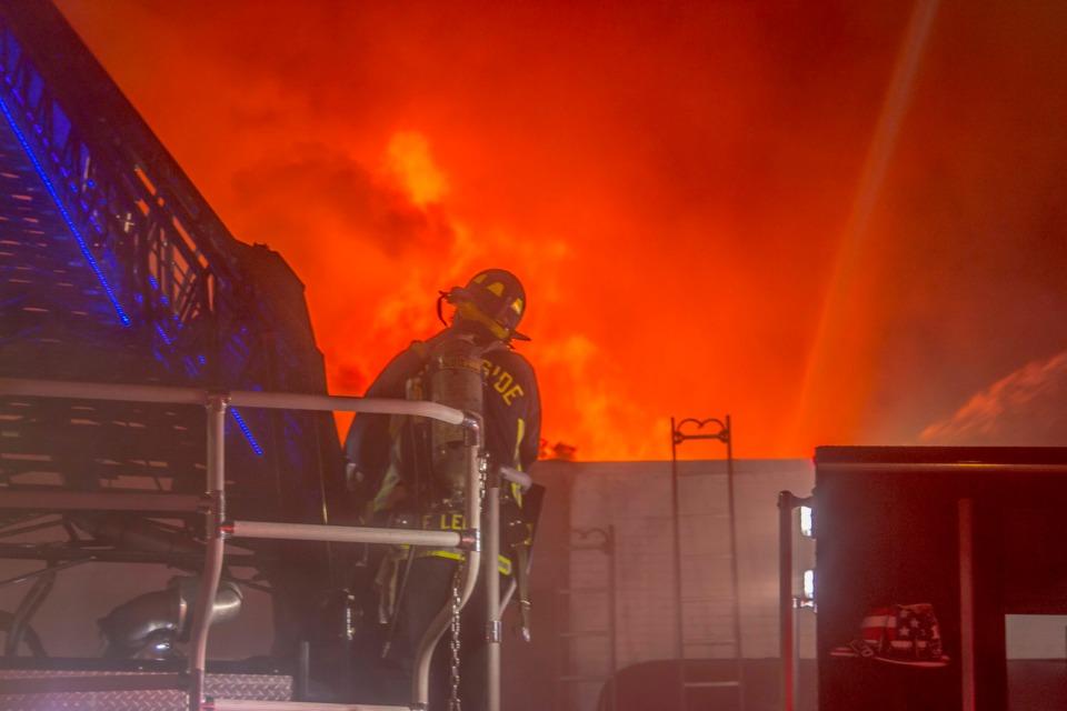 Photos Crews Battle 5 Alarm Fire At Nj Building