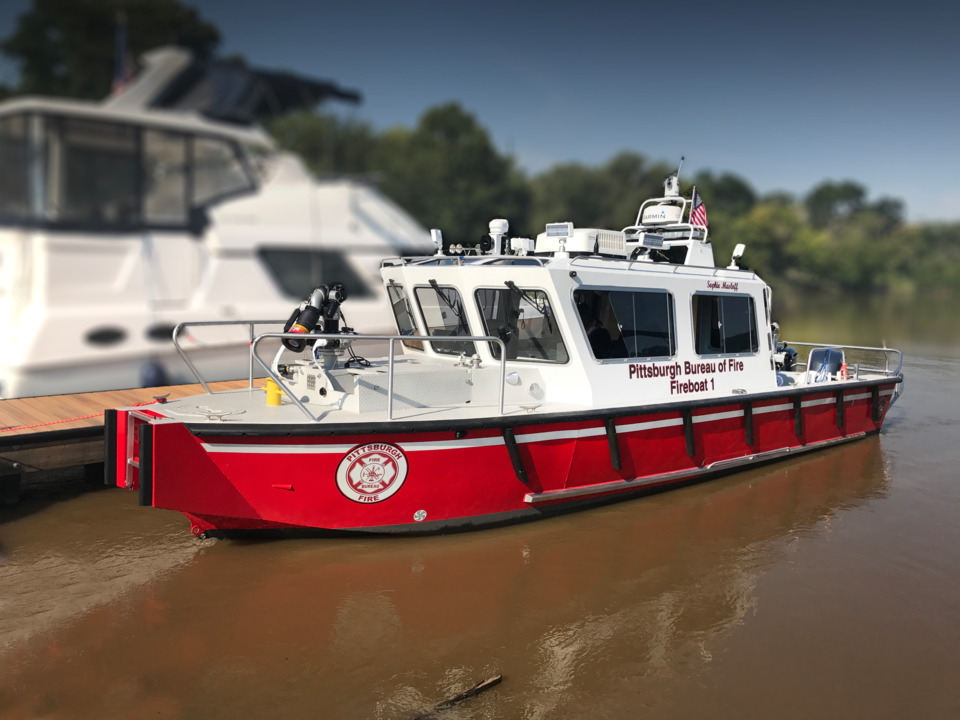 Pittsburgh Bureau Of Fire Has Taken Delivery Of A Fireboat
