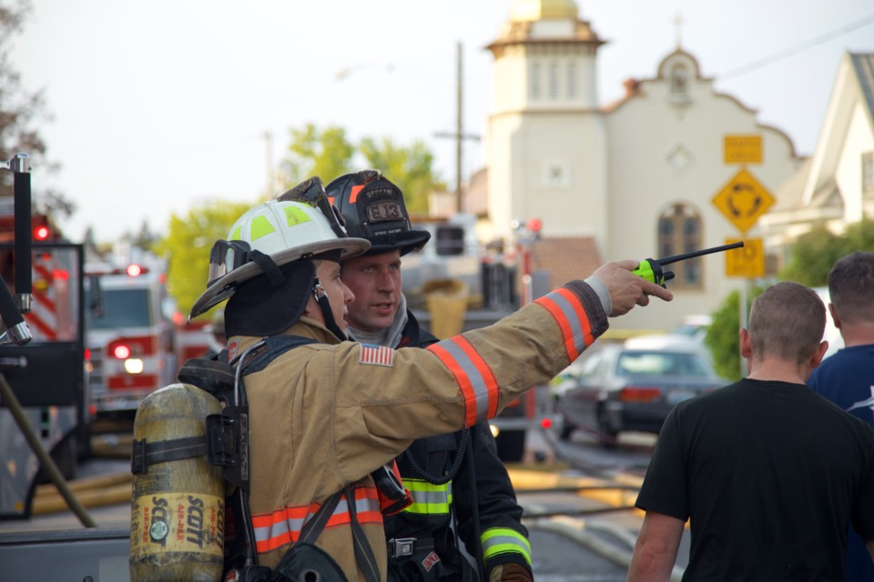 incident command on the fireground