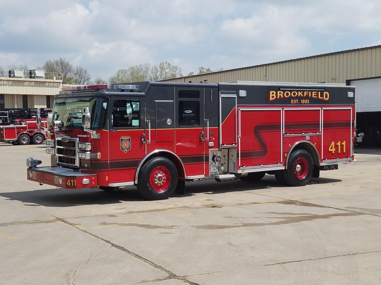 Brookfield, IL, Fire Dept  Gets New Custom Pumper Built by Pierce
