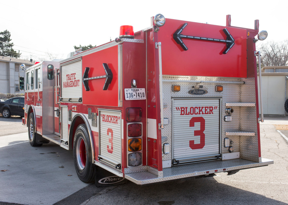 Irving Fire Dept  Adds Blocker Fire Apparatus for Roadway Safety
