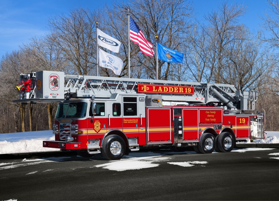 indianapolis in fire department puts 100 foot platform aerial