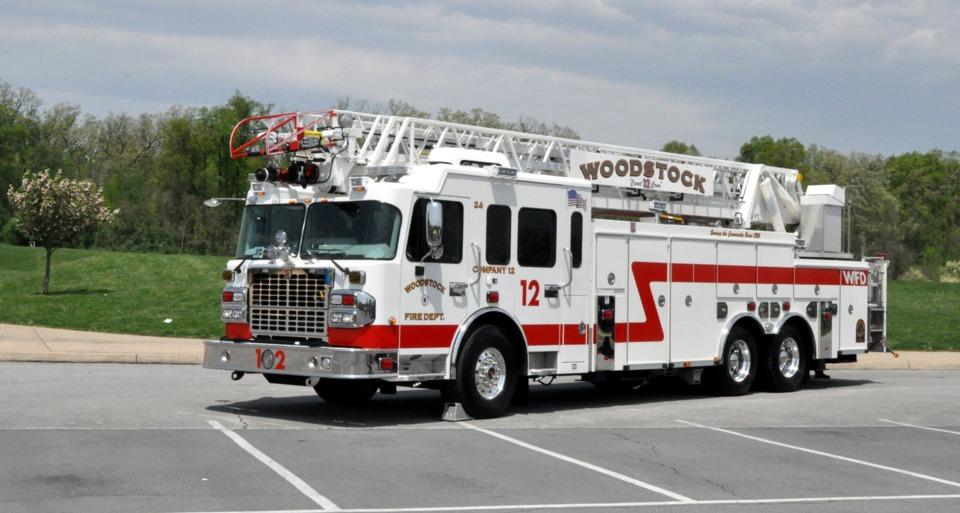 Woodstock, VA, Vol  Fire Co  Gets 105-foot Aerial