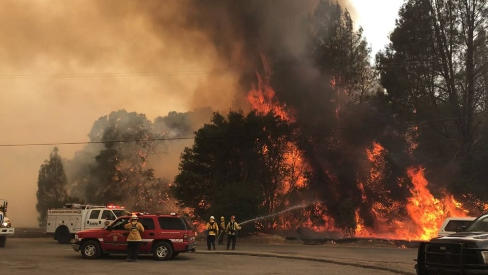 Spring Valley Lake County Ca Pawnee Fire Emergency