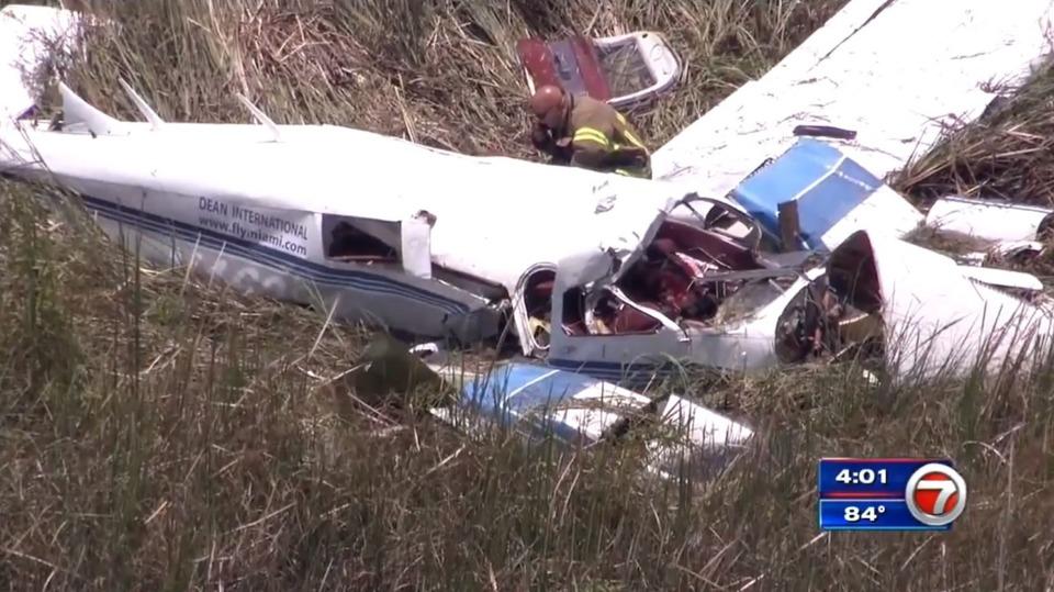Miami Dade County Fl Three Killed Midair Plane Crash