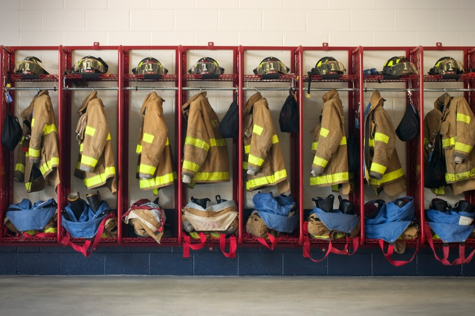 Fire Station Gear Lockers Ppe Storage Portable Carts