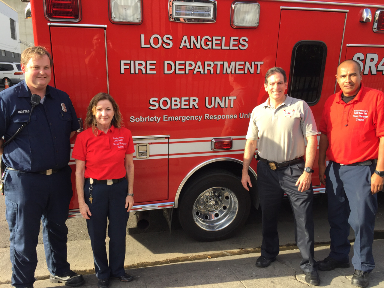 Lafd Sober Unit Receives Community Service Award Los Angeles