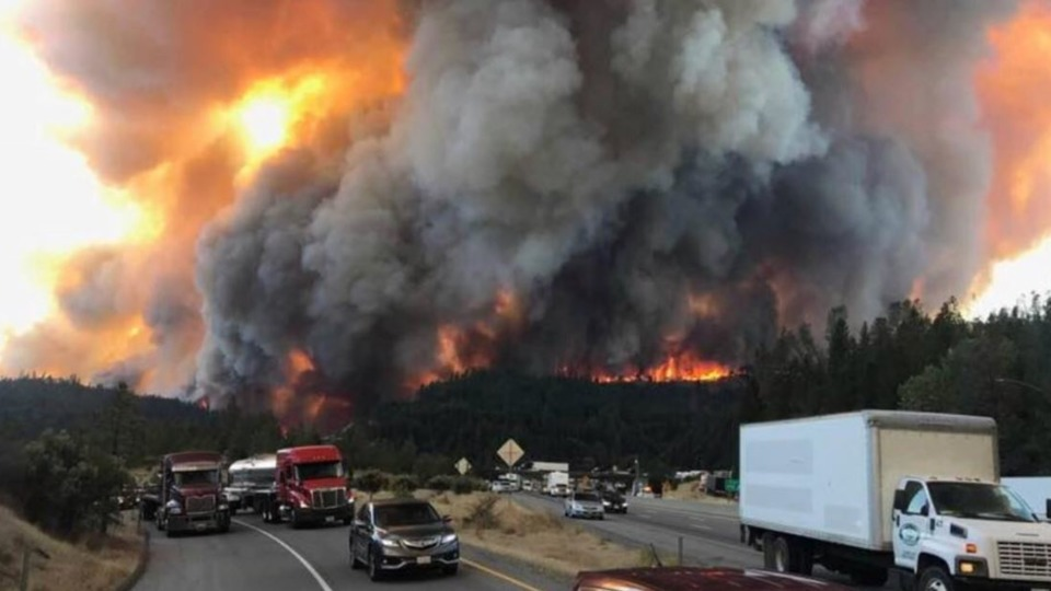 Redding Ca Fast Moving Delta Fire Wildfire Forced