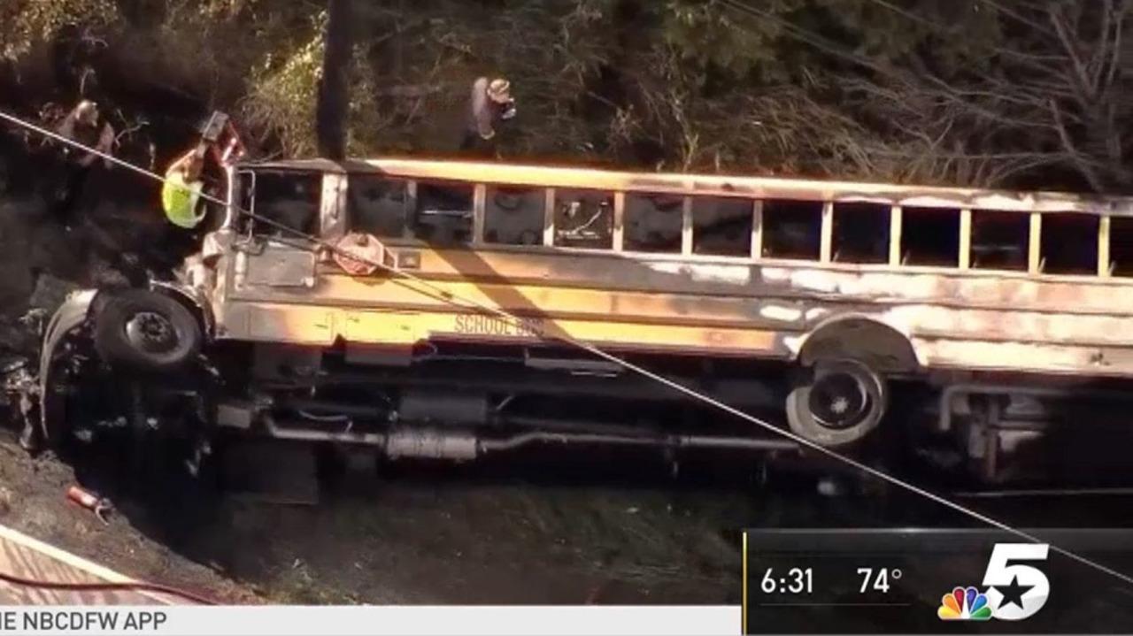 mesquite tx middle school student killed bus crash fire blaze