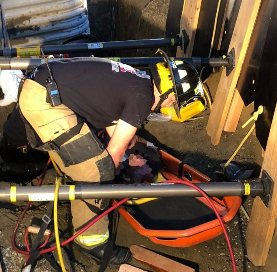 Billings MT Firefighters Crews Free Man From Collapsed