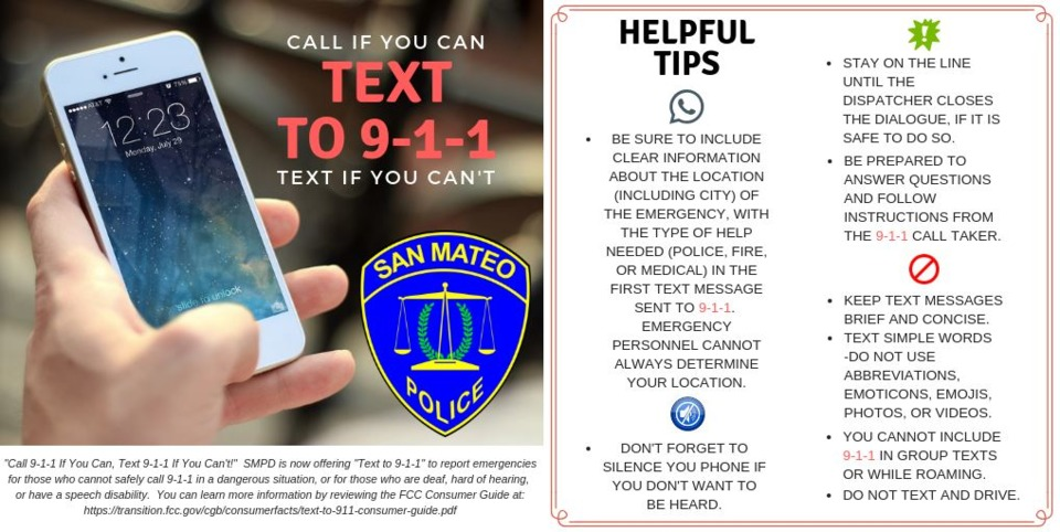 Bay Area CA Residents Now Have Option to Text 911 Emergency