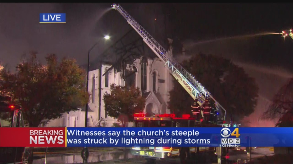 Wakefield Ma Historic First Baptist Church Destroyed In