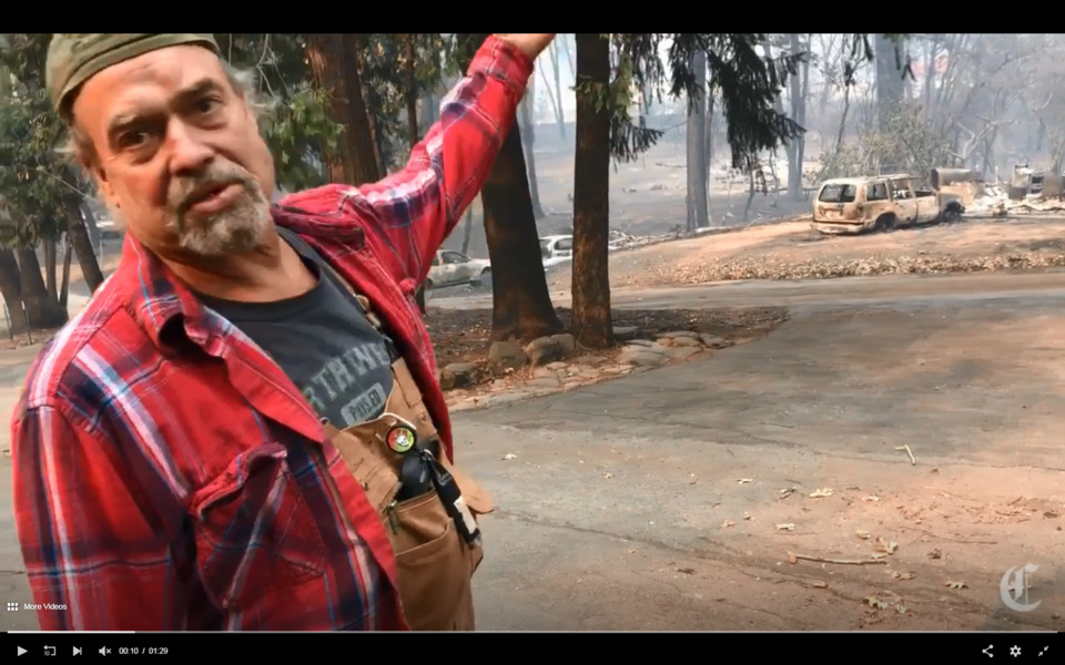 CA Man Fights Paradise Fire for Hours to Save 90-Year-Old Mother