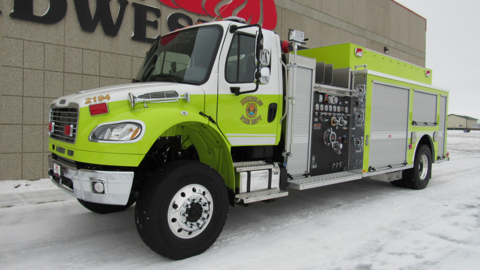 Humboldt Township, MI, Fire Dept  Gets Tanker-Pumper Built