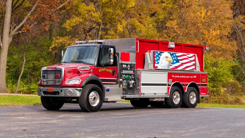 Fire Truck Rig Engine Design Paint Color Pierce Rosenbauer
