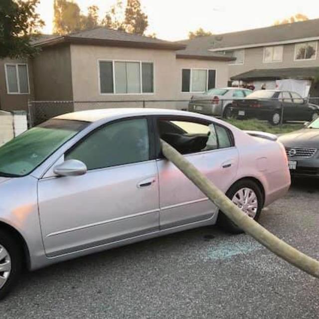 Anaheim CA Firefighters Break Car Window to Get to Hydrant