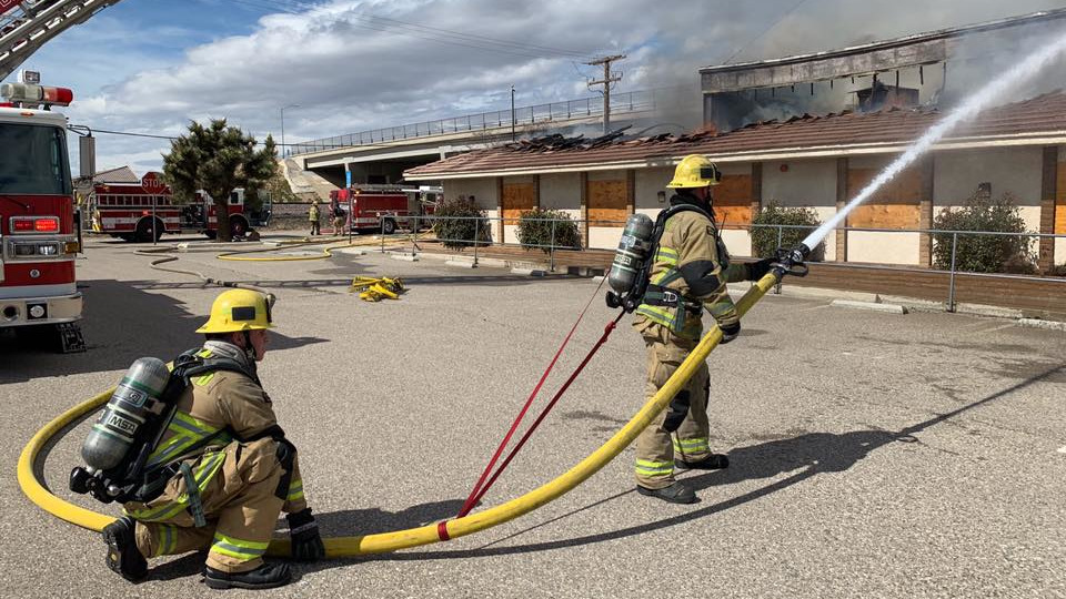 San Bernardino County CA Firefighters Hurt in Fire at Old