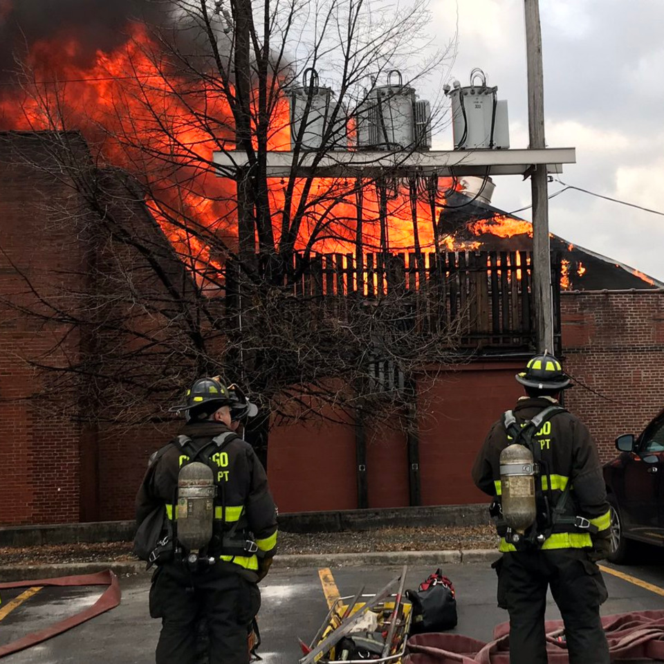 Intranet Newly Weds Foods: Chicago Firefighters Battle Five-Alarm Factory Fire For Hours