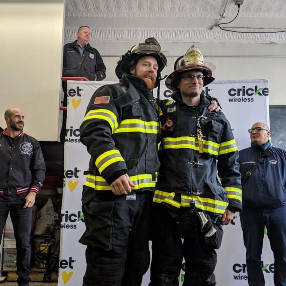 Wwe Wrestlers Surprise Secaucus Nj Firefighters