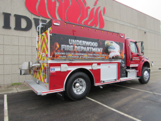 Underwood, MN, Fire Dept  Gets New Tanker-Pumper Built by