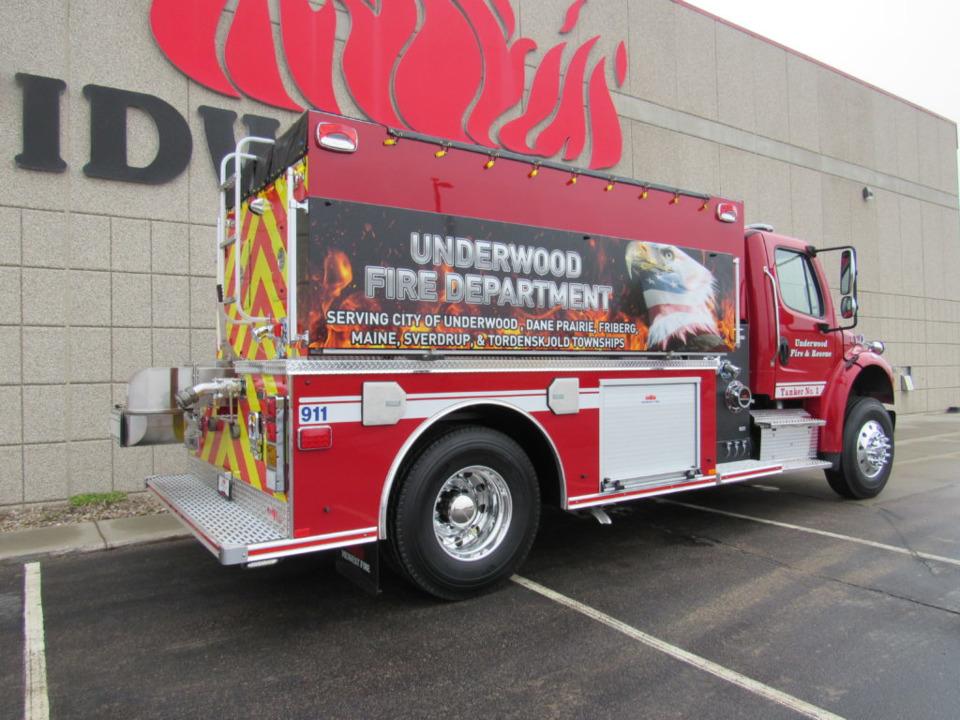 Underwood, MN, Fire Dept  Gets New Tanker-Pumper Built by