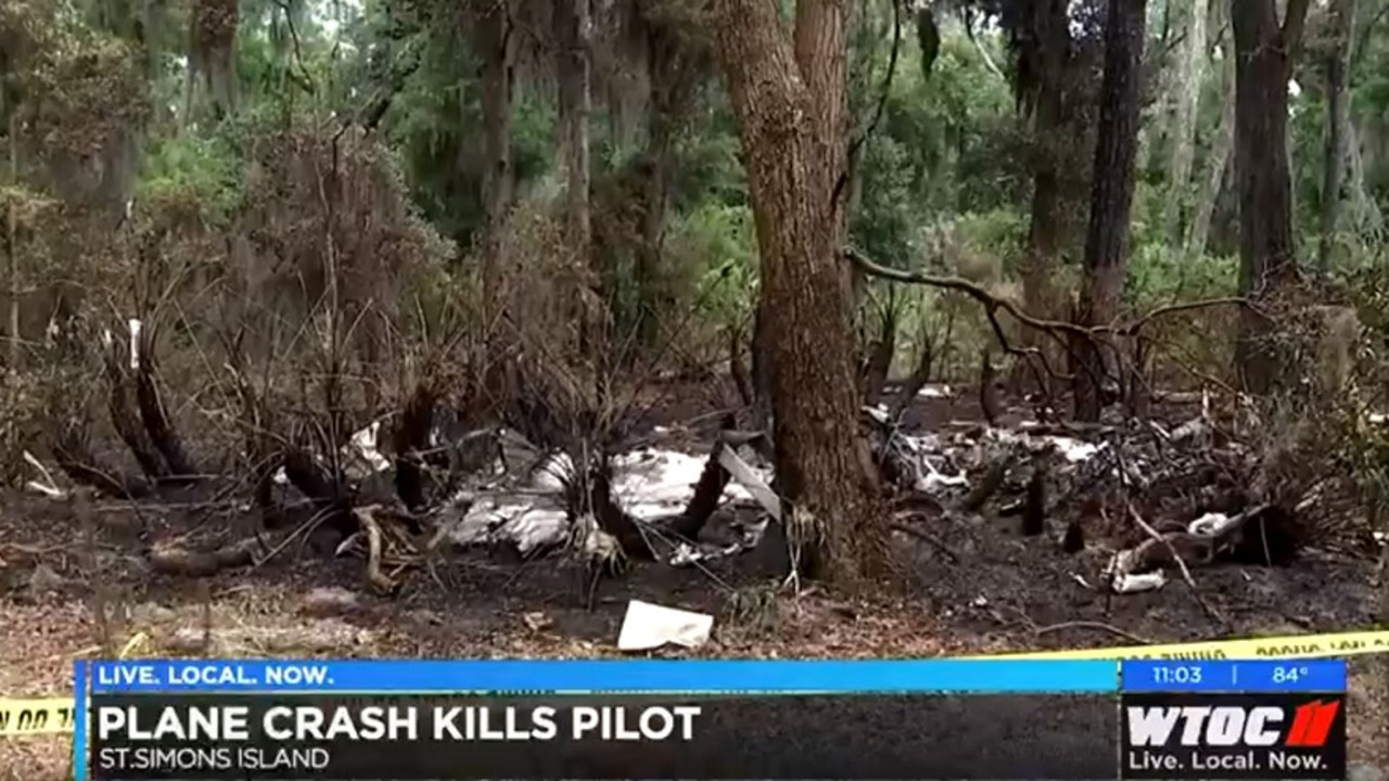 Pilot Killed Small Plane Crash St  Simons Island Glynn County GA