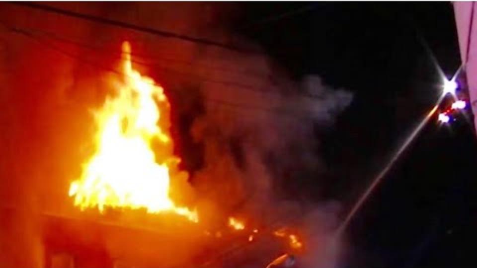 Watch Paterson Nj Firefighters Battle Massive Three Alarm Fire