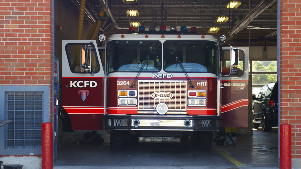 Kansas City MO Firefighters Rescue Worker Hit by Object from