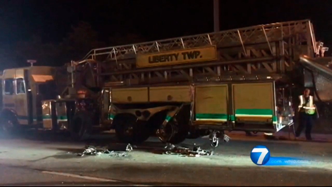 OH Firefighter Suffers Injuries, Aerial Damaged During Semi Truck Crash